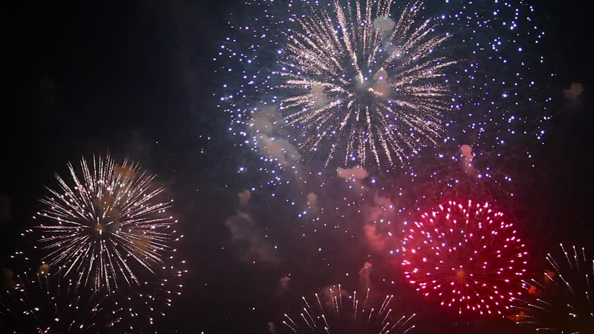Large fireworks of different colors | Shutterstock HD Video #21234724