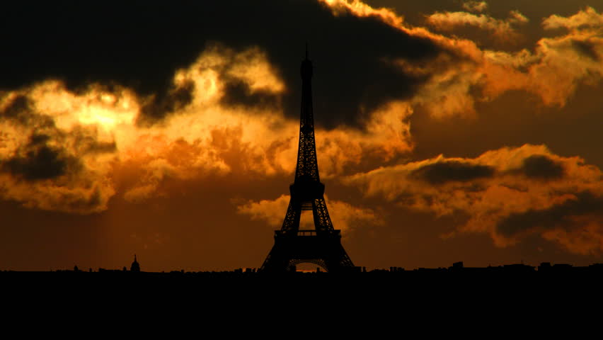 The Eiffel Tower is the most recognizable landmark of Paris, France. Built in 1889 as the entrance arch to the 1889 World's Fair it have become the world known attraction.    | Shutterstock HD Video #2124017