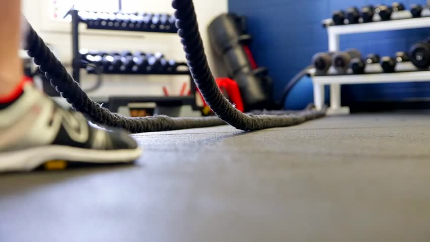 battle ropes closeup