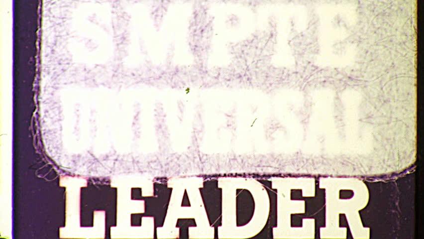 THE END Super 8 Vintage Damaged Film Leader Texture Loop