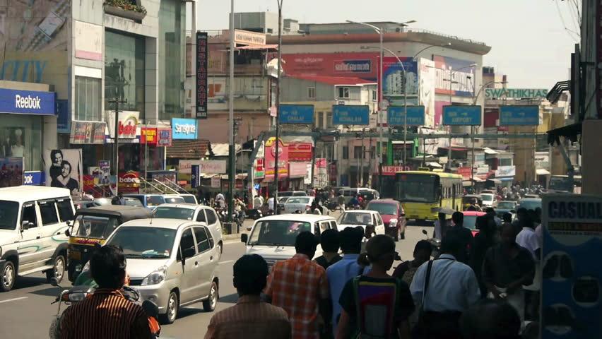 TRIVANDRUM, INDIA - FEB 15: Indian street traffic, February 15, 2012 in Trivandrum, Kerala, India.