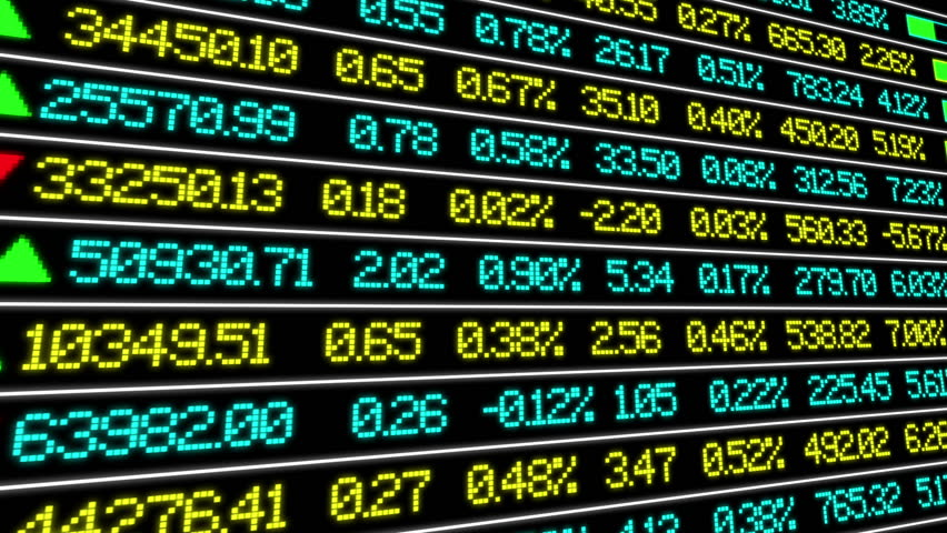 Stock Market ticker, white lines and 3D camera movement | Shutterstock HD Video #21461074