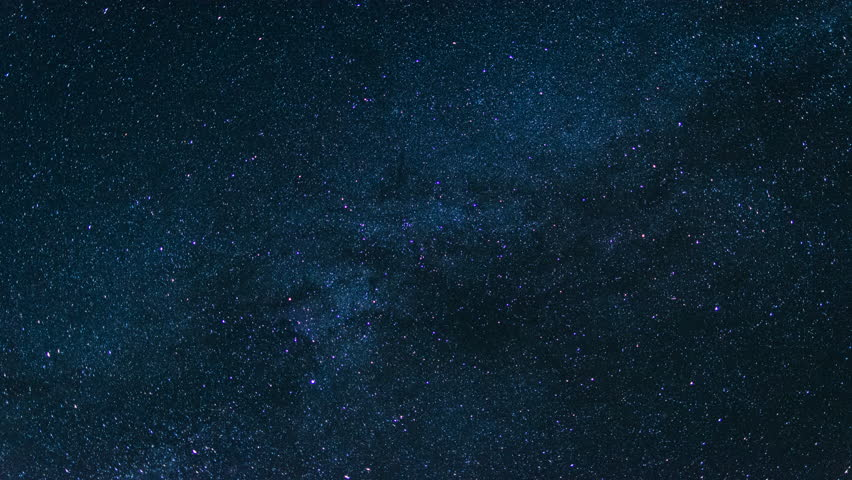 Milky Way Close Up Moving Across the Night Sky, Stars. 4K Time Lapse