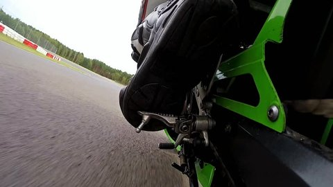 ZIELONA GORA - AUGUST 16: Training bike day before motorcycling tournament at Wallrav Circuit on August 1st, 2016, Zielona Gora, Poland