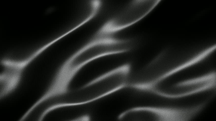 Black wavy fabric motion background seamless loop