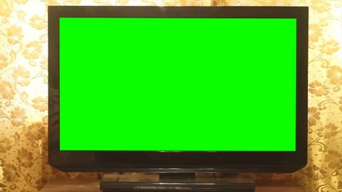 Widescreen HDTV with Green Screen. Home