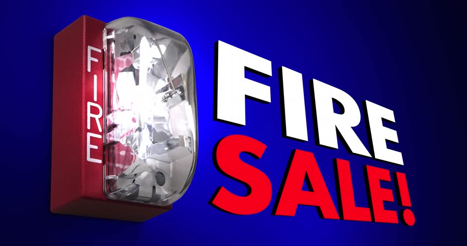 Header of fire sale