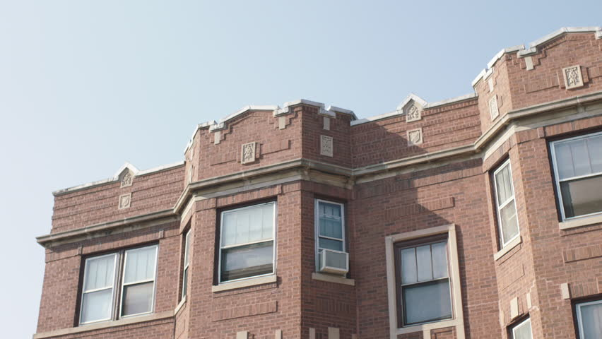 Brick Apartment Building Window day bit 2nd floor windows small eastern brick apartment building