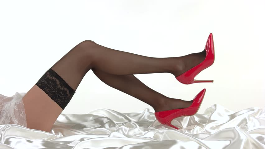 Are sexy dark nylons with french heel