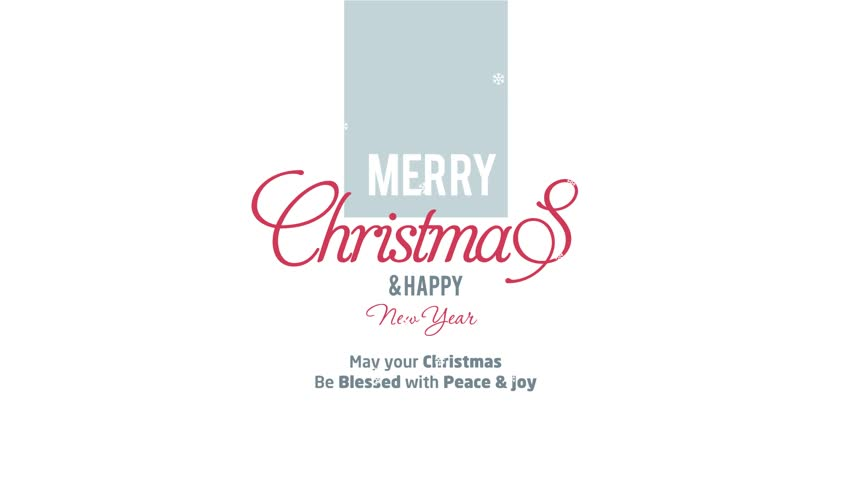 Merry Christmas Happy New Year Stock Footage Video (100% Royalty ...