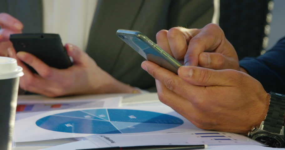 4K Cinemagraph: Close Up Of Businessman Hand Typing Text Message On Mobile | Shutterstock HD Video #21771094