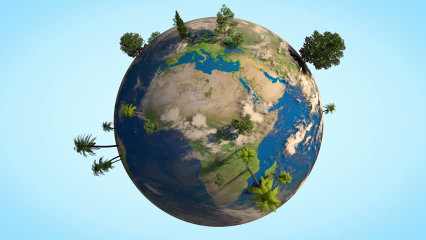 realistic spinning earth in space free motion graphics backgrounds