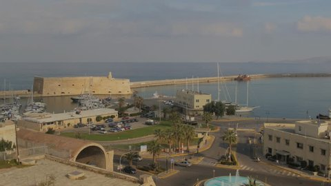 View of the Harbour at Heraklion, Crete, Greece