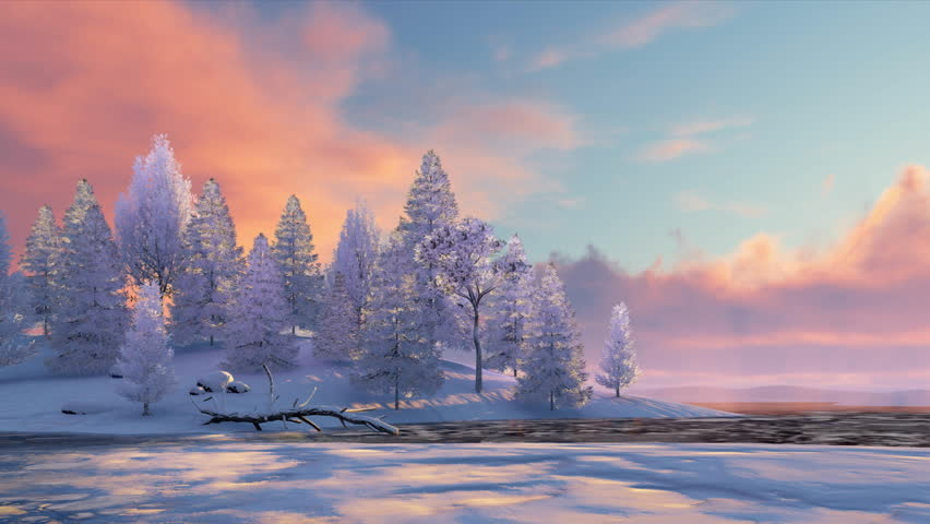 Peaceful Winter Scenery with Snowy Stock Footage Video (100% Royalty-free) 21885334  Shutterstock