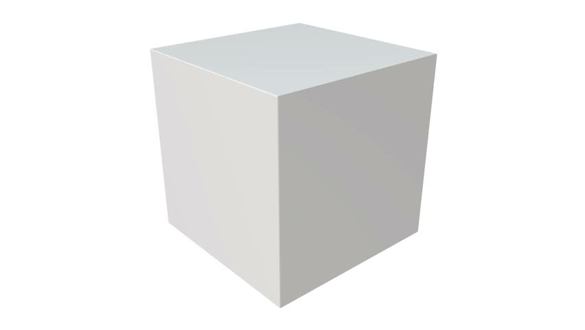 White box isolated on white background. Transportation concept. 3D render HD footage for your design. Alpha matte included.