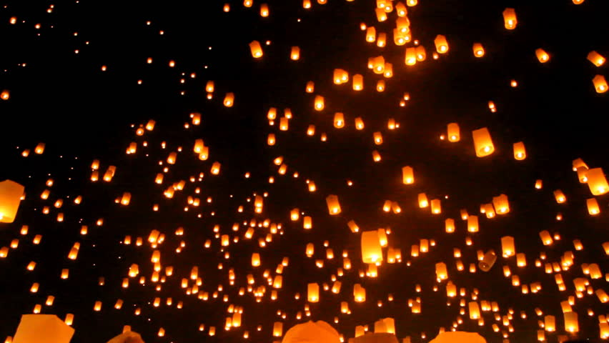 Release floating lanterns to the sky , Lantern festival #21900124