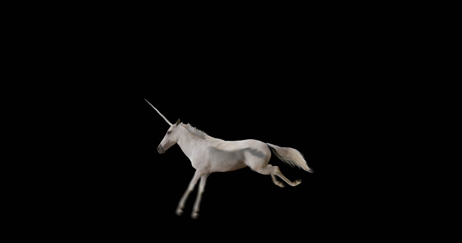 Pegasus and winged Unicorn flying on a transparent background. The first flying horse with horn, and the second without horn. Isolated and cyclic animation. Seamless loop. Alpha channel.  | Shutterstock HD Video #21909640