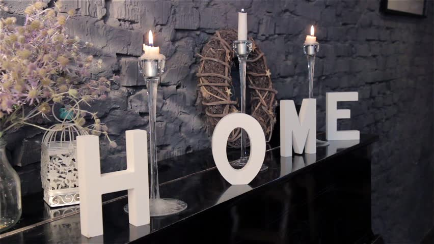 Home Wooden Letters Home Decor Stock Footage Video 100 Royalty Free 21950434 Shutterstock