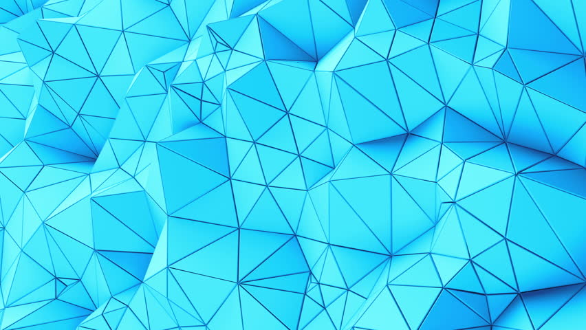 Triangle blue Background. Seamlessly Loopable. Low Poly Polygonal geometric surface. Computer generated seamless loop abstract motion background. 4k UHD (3840x2160). Background for text. | Shutterstock HD Video #21977704