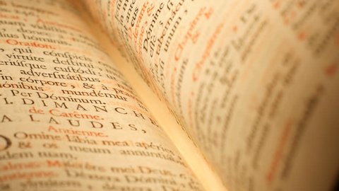 4K Flipping pages of Antique Bible