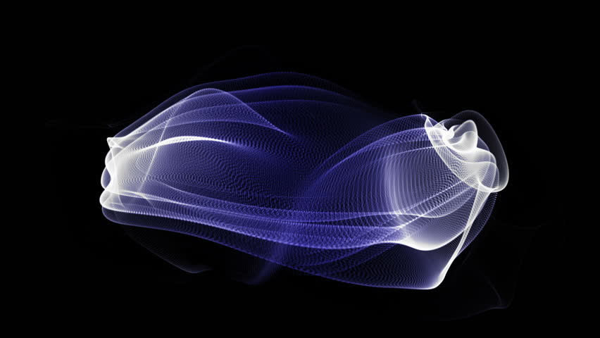 Wonderful video animation with moving particle object   Shutterstock HD Video #2207434