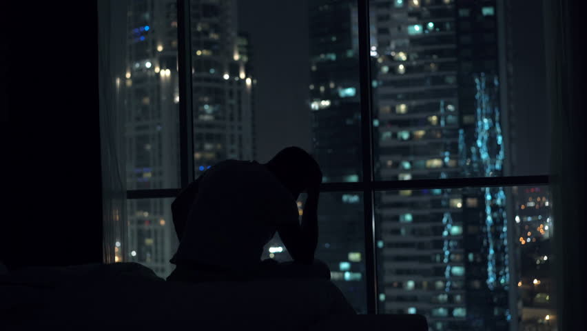 Night left from sidewalk asian strippers dancers outside nd sad unhappy man sitting by window during night 4k 4k stock footage clip aloadofball Choice Image