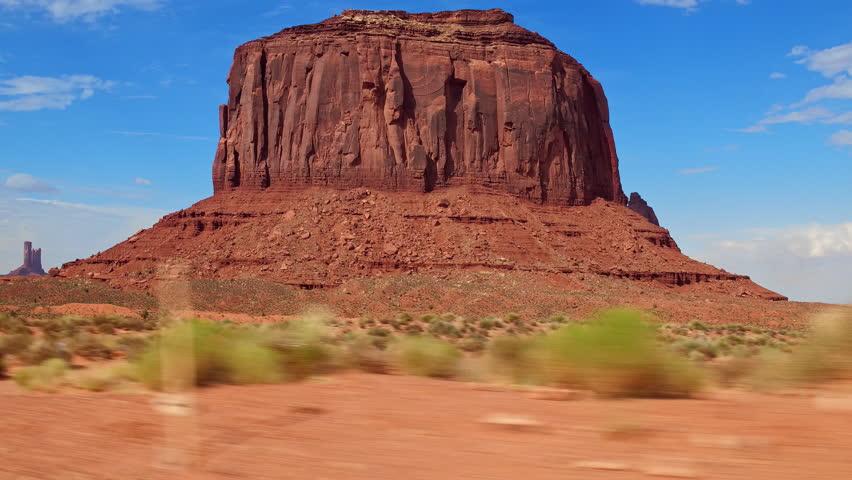 Driving through Monument Valley, Utah, USA.