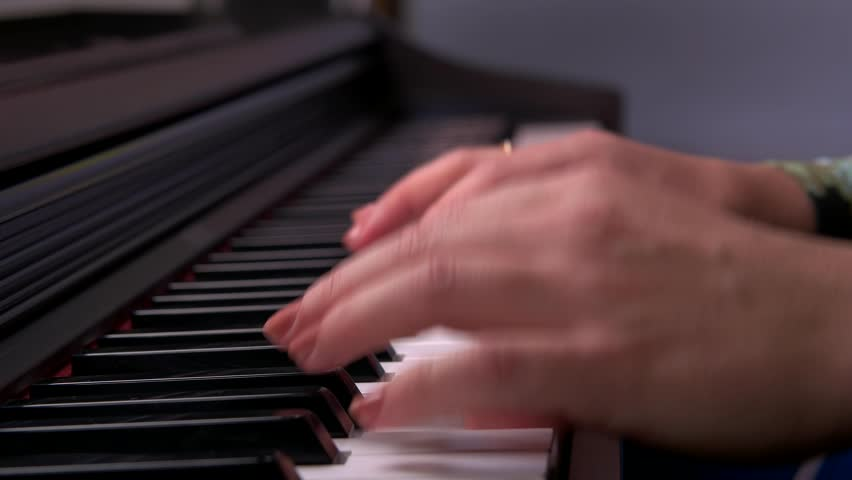 to play the piano, hands playing the piano #22093504
