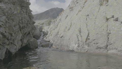 Mountain water stream