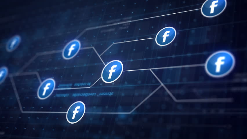 BRISBANE, AUSTRALIA - DECEMBER 11, 2016 : Facebook Icon Line Connection of Circuit Board Loop Animation 4K. Editorial Animation | Shutterstock HD Video #22130734
