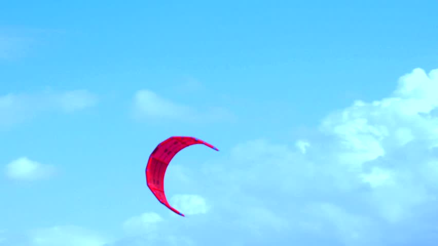 Kite Surfing in a lake, south of Israel, filmed 60p, color graded