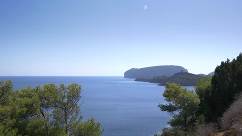 Beautiful coastline of Sardinia in UHD.