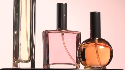 Men's, women's perfume. Three Bottle spray in rotation