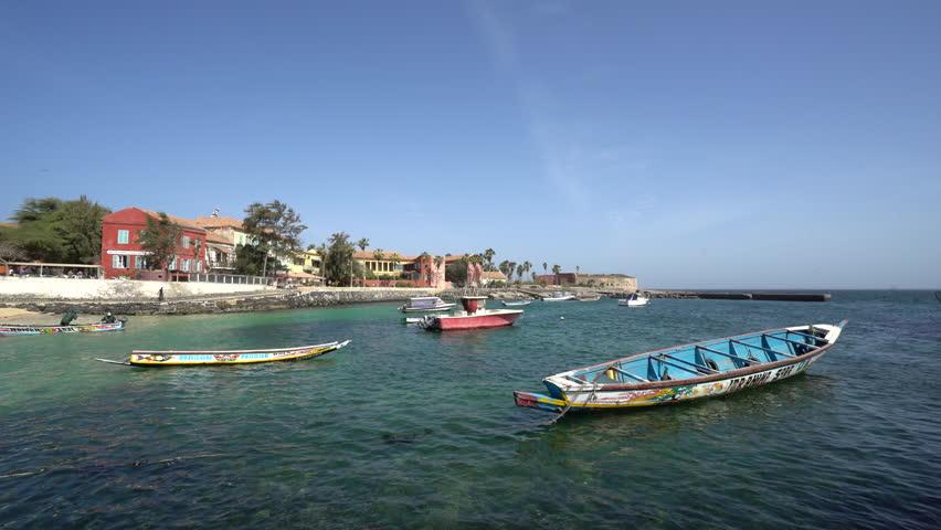 Gore island, city of African slave trade - March 2016: Gore island, Dakar, Senegal