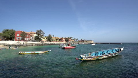 Gore island, city of African slave trade - March 2016: Gore island, Dakar, Senegal