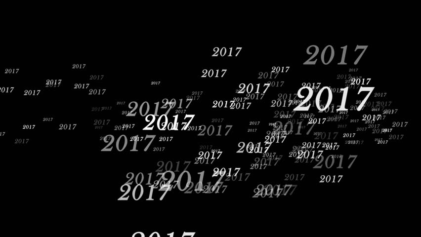 2017, New year, Text Animation Rendering Background, Loop, 4k  | Shutterstock HD Video #22190284