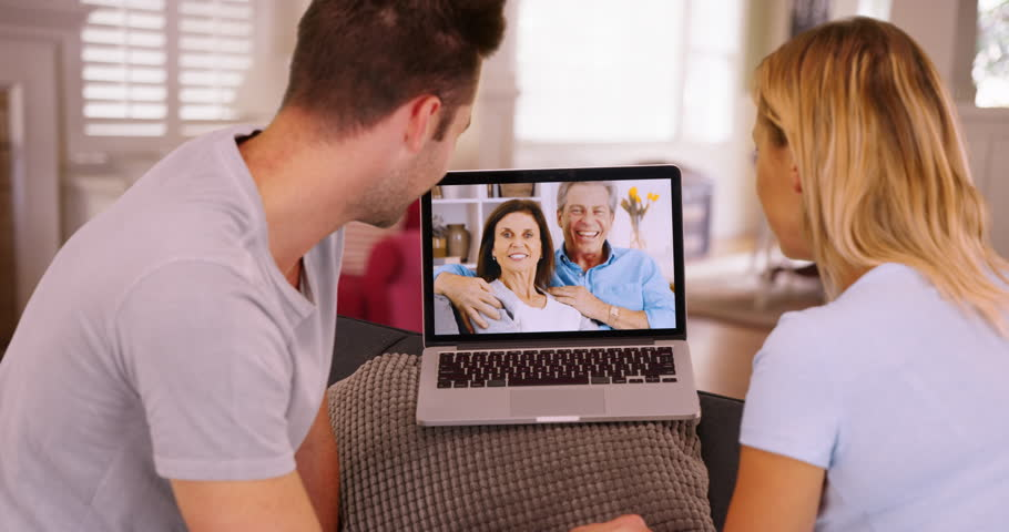 Millennial Couple Video Chatting with Stock Footage Video (100%  Royalty-free) 22208404 | Shutterstock