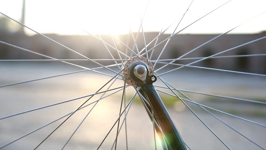 Rotating bicycle wheel    Shutterstock HD Video #22212514