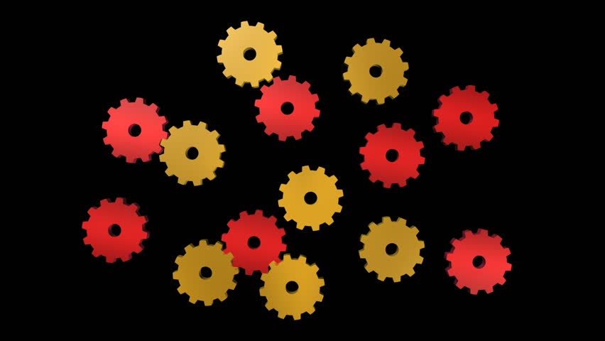3d animated cogs