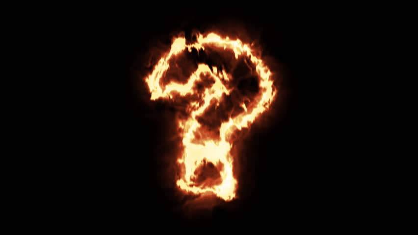 Hot burning question mark in fire background | Shutterstock HD Video #22221574
