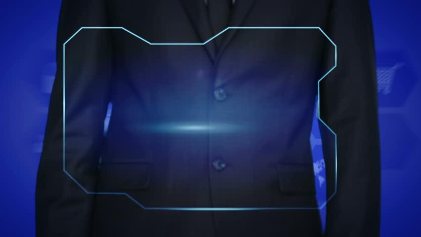 businessman icon network - HR,HRM,MLM, teamwork and leadership concept