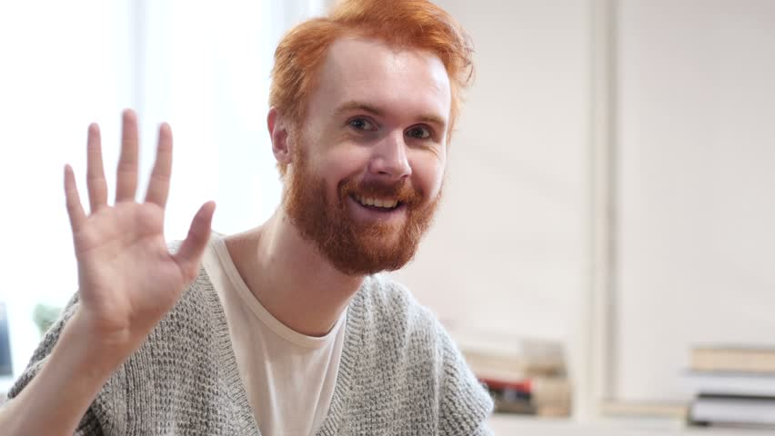 Hello, Waving Hand, Man with Red Hairs
