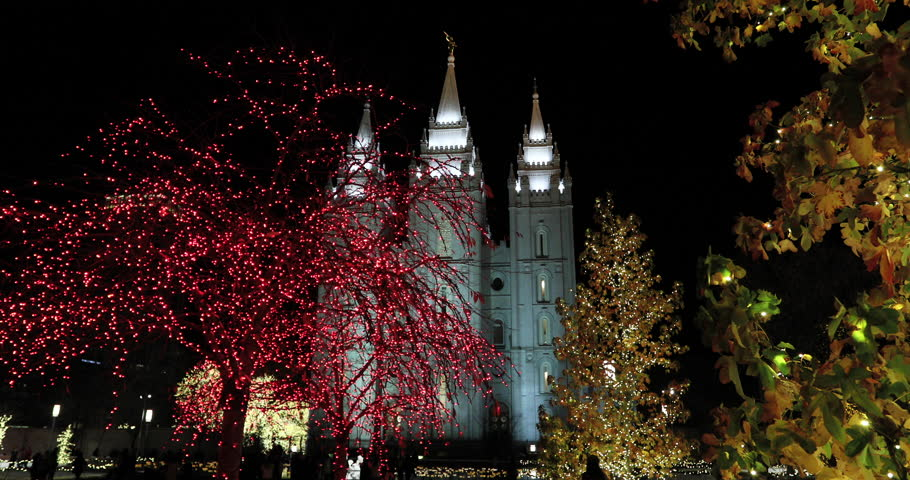 SALT LAKE CITY, UTAH - DEC 2016: Winter Christmas Salt Lake City ...