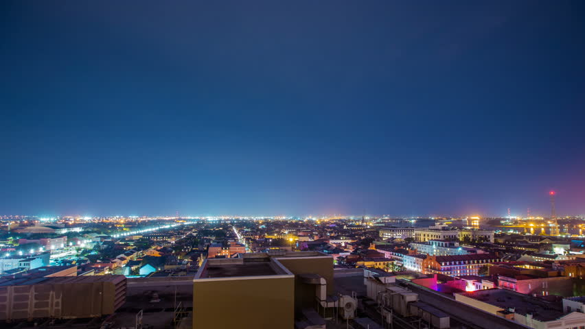Time Lapse - Night View of New Orleans, USA