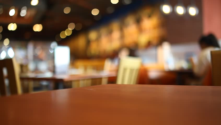 Table at restaurant blurred background | Shutterstock HD Video #22269184