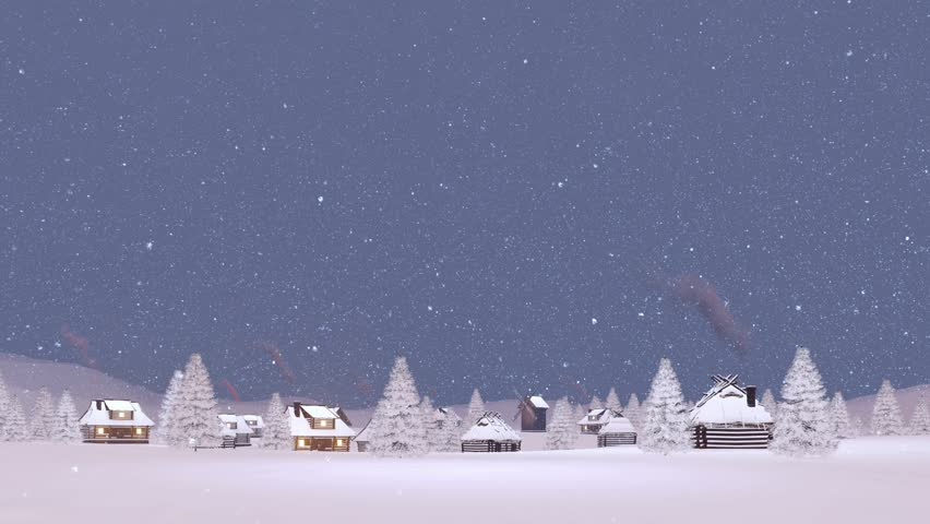 Stock Video Clip Of Winter Rural Scenery With Cozy Snow
