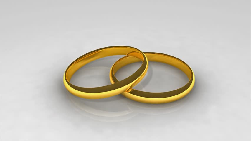 Animated Wedding Rings In Hd1080 Hd Stock Footage Clip