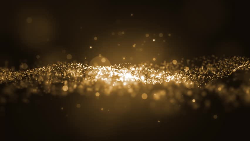 Background gold movement. Universe gold dust with stars on black background. Motion abstract of particles. VJ Seamless loop. #22423354