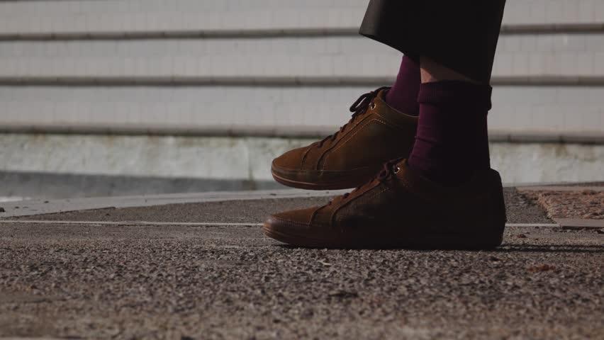 Mature feet three