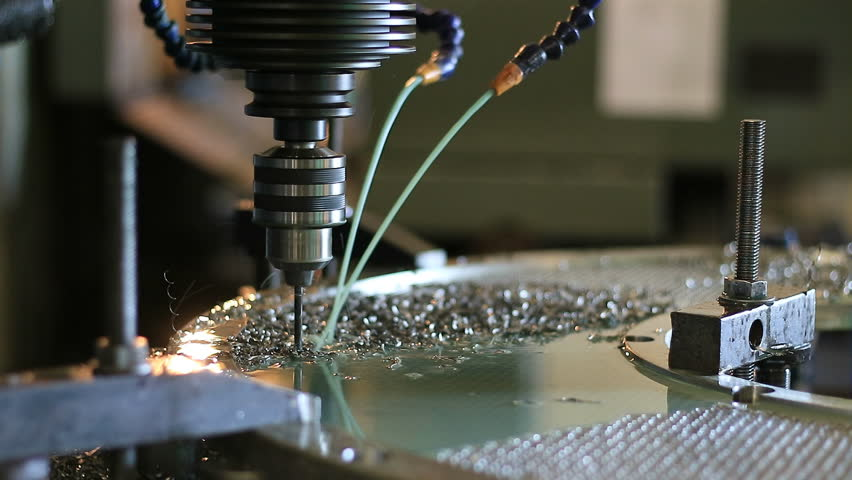 Milling Machine In Action Stock Footage Video 4687295